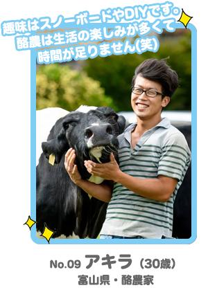 No.9 アキラ「酪農男前コンテスト」
