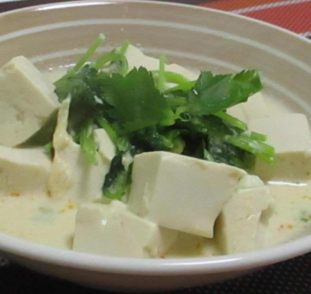 豆腐ときのこの煮びたし